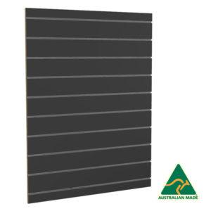 900mm Black UniSlot Slatwall Back Panel (Side Mount)